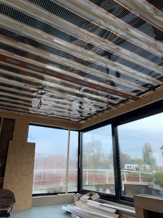 Infrarood plafondfolie woonark Alkmaar